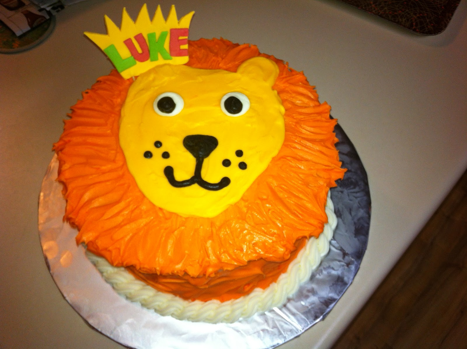 1st Birthday Cake Lion Image Inspiration of Cake and Birthday