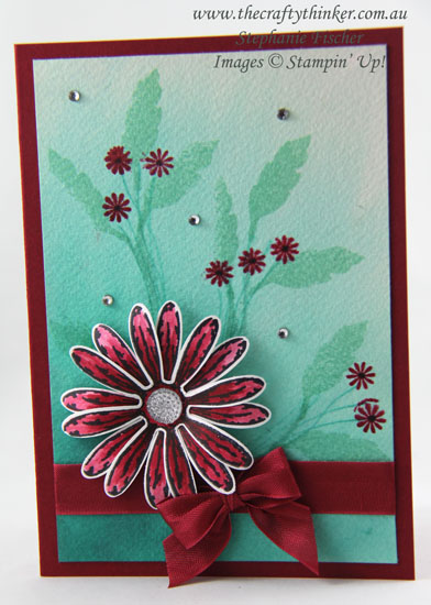 Sneak Peek Daisy Delight Bundle, Watercolour Wash, Stampin Up Australia Demonstrator, Stephanie Fischer, Sydney NSW