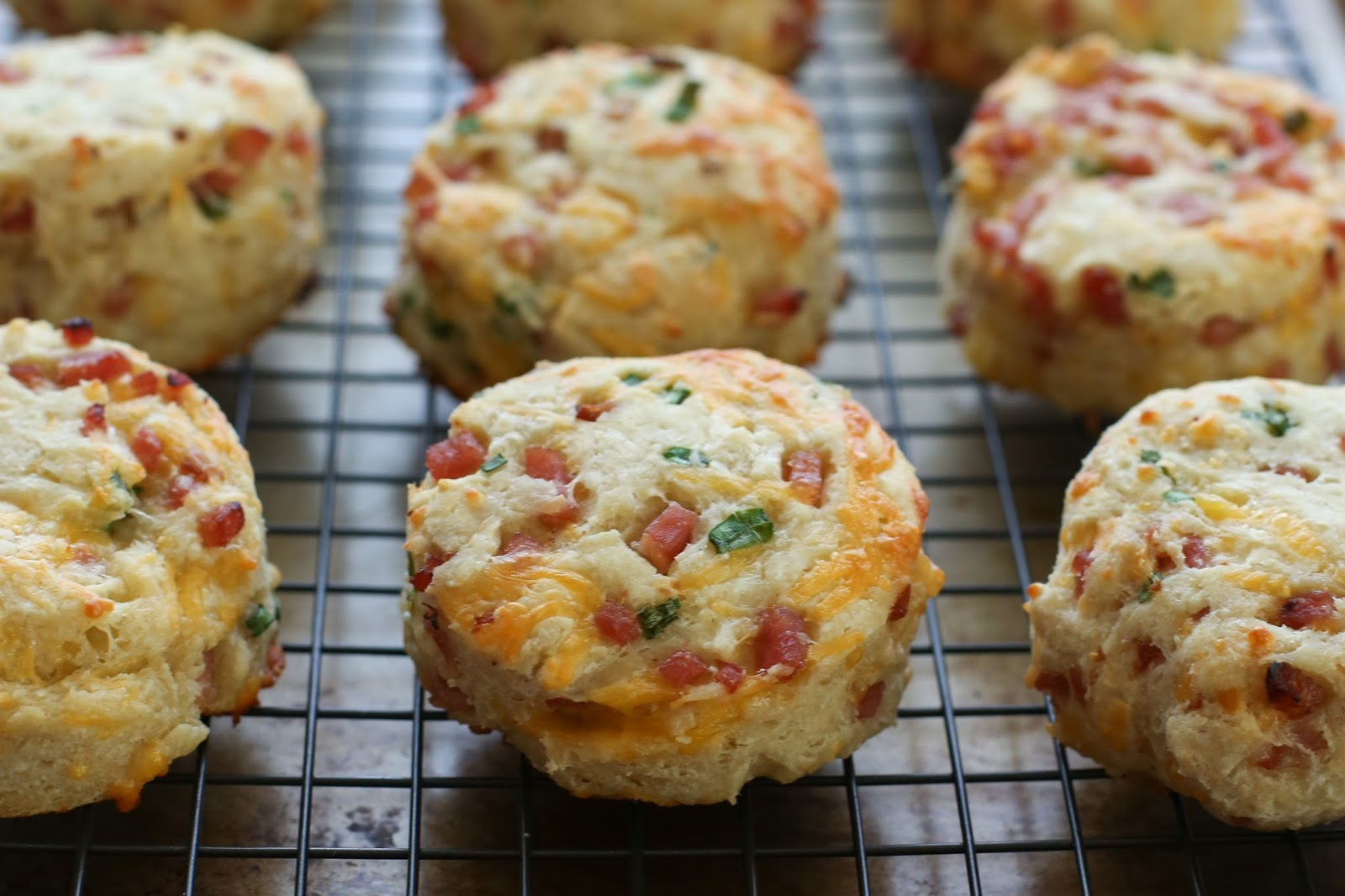 Ham and Cheese Biscuits recipe by Barefeet In The Kitchen