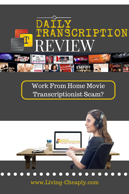 Daily Transcription Review - WFH Movie Transcriptionist Scam?