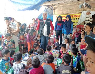 ACT Lampung–IBI Darmajaya Dukungan Psikososial Anak-Anak Penyintas Banjir Pekon Umbar Kelumbayan