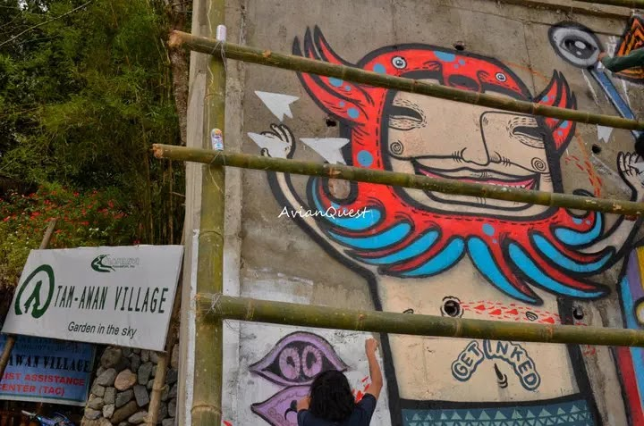 Tamawan Village Making of a Graffitti Mural Baguio City Philippines 29