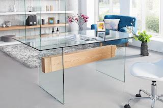 Pracovný stôl zo skla Reaction