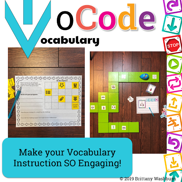 Vocab Coding (VoCode) Activities to Use with Any Coding Robot
