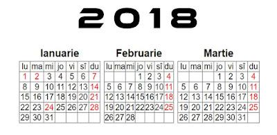 Calendar 2018 Romania