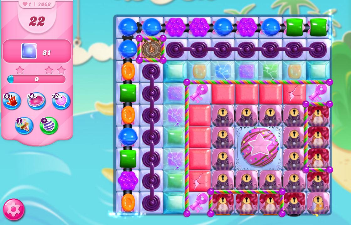 Candy Crush Saga level 7063