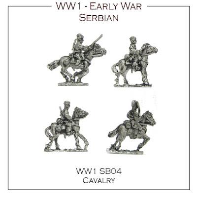 WW1-SB04 Serbian Cavalry - (16 Figures + 4 Bases)