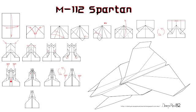 Infografía avión de papel M-112 Spartan