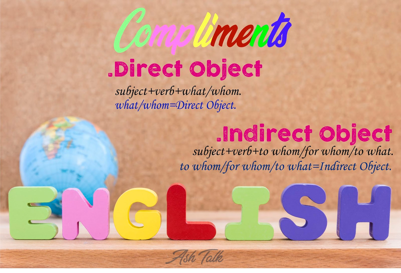 Compliments Direct Objects And Indirect Objects