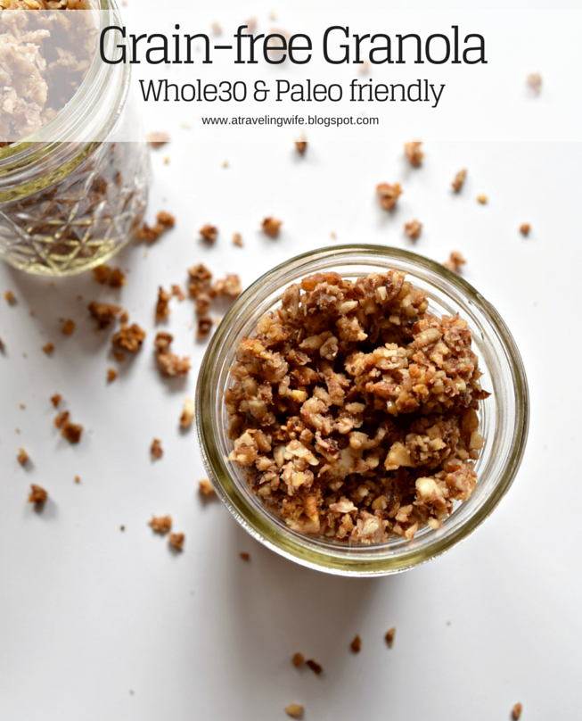 Grain-free Granola - both Whole30 and Paleo friendly