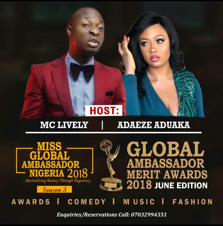 Miss Global Ambassador Nigeria plans to crown the New Queen today 24th June 2018