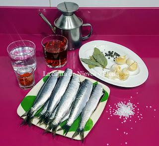 Ingredientes Sardinas en escabeche