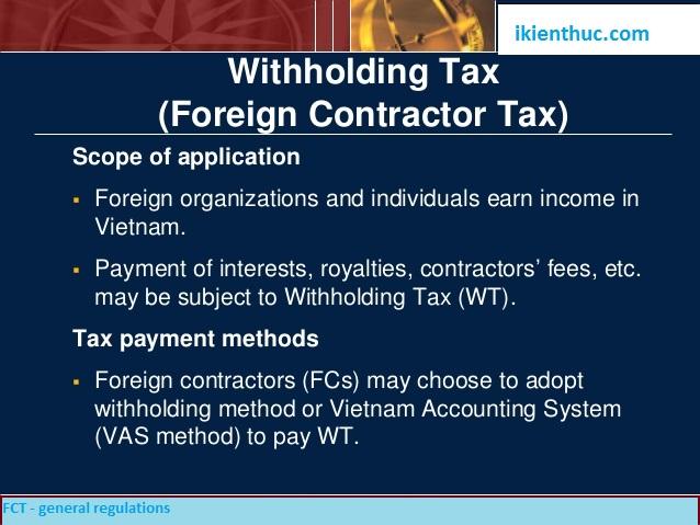Thuế nhà thầu là gì - Thủ tục và hồ sơ kê khai thuế nhà thầu