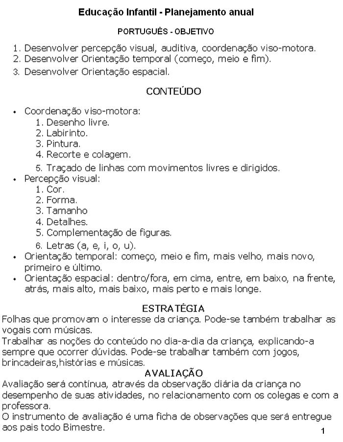Fabuloso PLANOS DE AULA E PLANEJAMENTO ANUAL - Ensino Fundamental  FI11