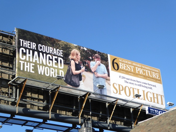 Spotlight Oscar billboard