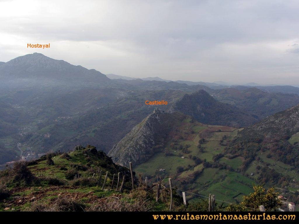 Ruta Baiña, Magarrón, Bustiello, Castiello. Desde el Pico Bustiello, pico Castiello y Mostayal