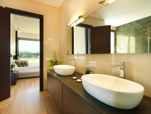 New Polished Concrete Bathroom