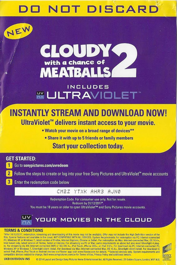 your free daily ultraviolet uv codes for movies movie cloudy with a chance of meatballs 2. Black Bedroom Furniture Sets. Home Design Ideas