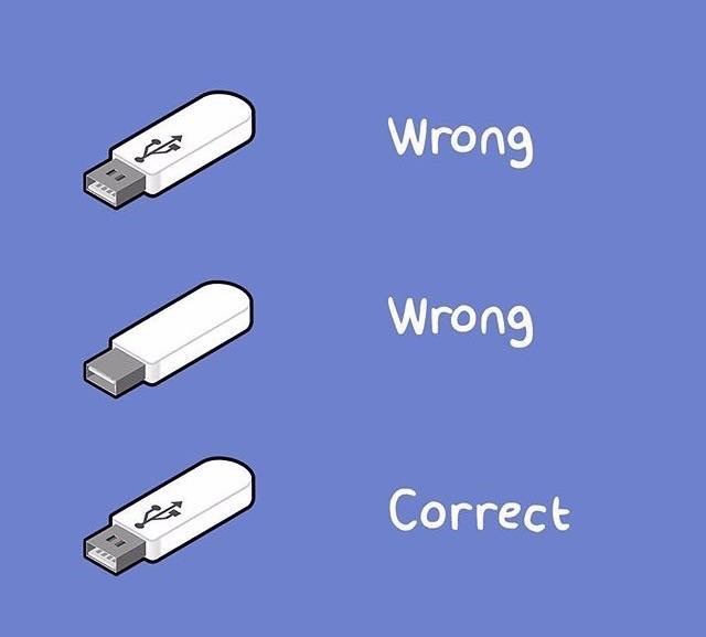 How to properly insert a USB