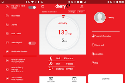 Cherry Fit App User-interface