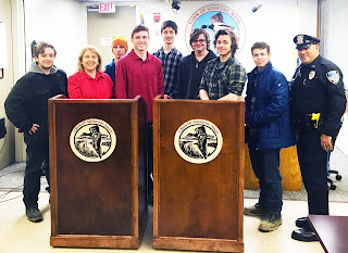 Tri-County Carpentry Students Build Oak Podiums for the Seekonk Police Department