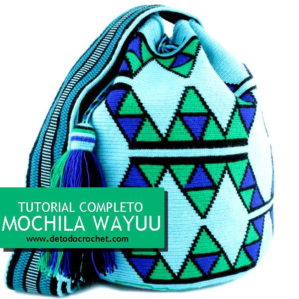 como tejer una mochila wayuu paso a paso en video tutorial en español