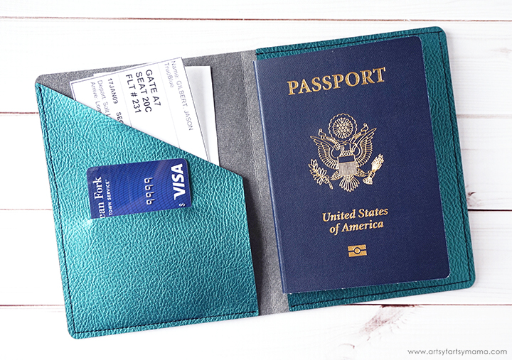 DIY Leather Passport Covers with Cricut