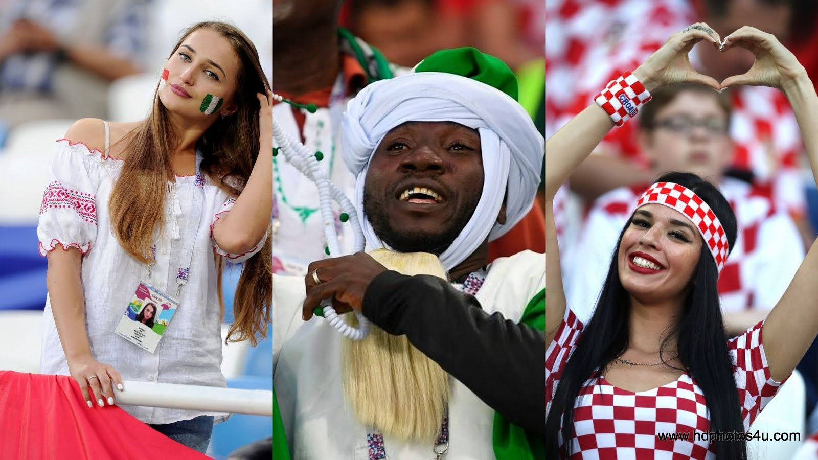 hot! fans photos fifa 2018: croatia vs nigeria 8th match - group d