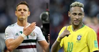 كأس العالم 2018 - مباراة البرازيل والمكسيك اليوم