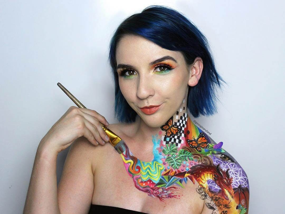 07-Fantasy-Brushstroke-Georgina-Ryland-Mehron-Makeup-Body-Painting-www-designstack-co