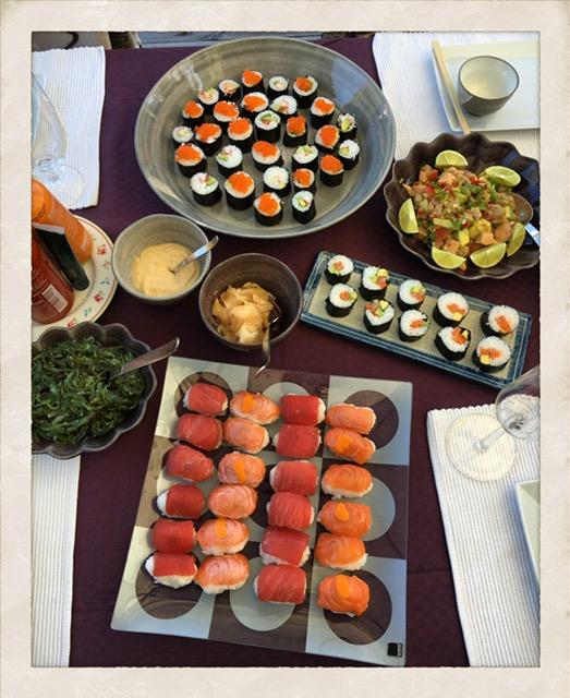 kan gravida äta sushi