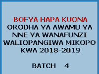 HESLB: Loans Allocation Batch Four Academic Year 2018/2019