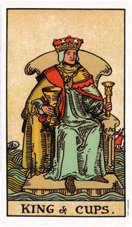 Original Rider Waite Tarot, King of Cups