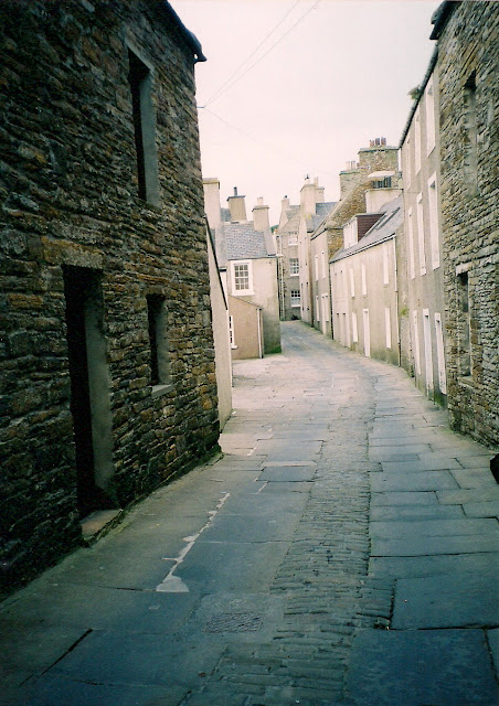 narrow streets of Stromness, Orkney Islands Scotland