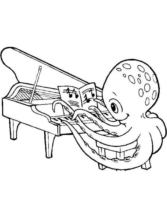 polipo, pianoforte, suonare, musica,