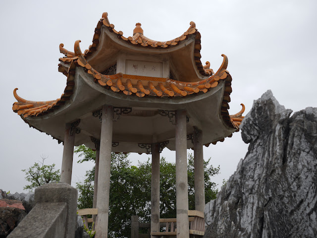 pavilion at the top of Jiuxing Crag in Yunfu