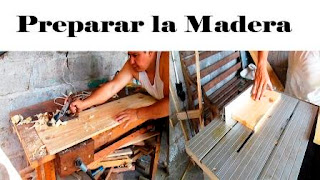 Preparación de madera