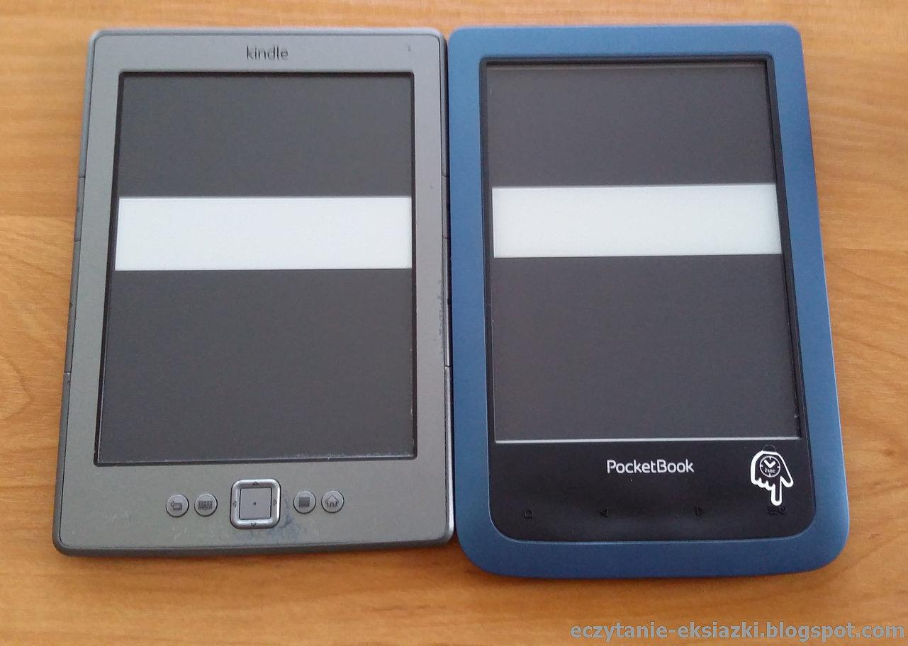 Kindle Classic i PocketBook Aqua – nasycenie czerni