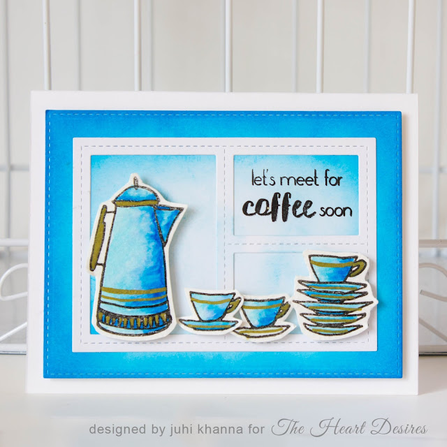 altenew coffee watercolor card