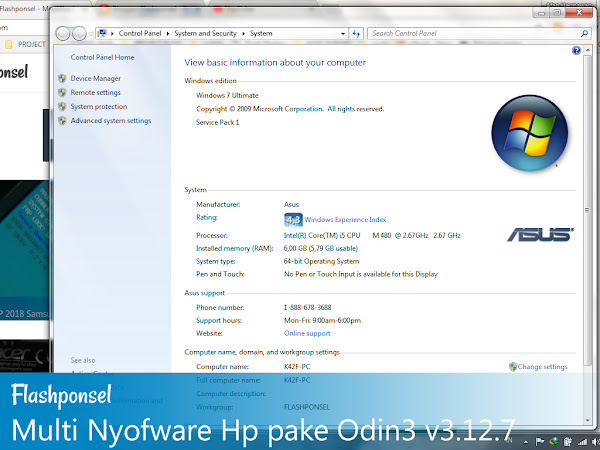 Multi Flash Nyofware Hp Samsung Odin3 v3.12.7