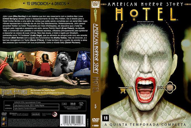 Capa DVD American Horror Story Hotel (A Quinta Temporada Completa) [Custom]