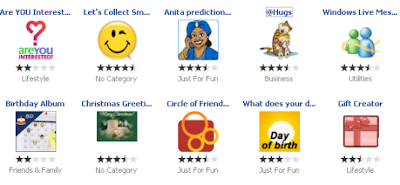 Facebook Applications You May Like
