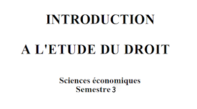 introduction au etude de droit pdf , resumé