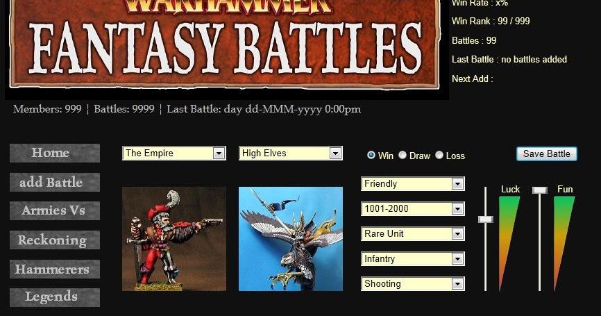 Warhammer Fantasy Battle Tabletop Gaming: Save your ...