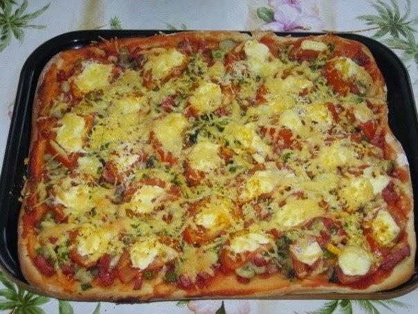 Домашняя пицца | рецепт пиццы | классический рецепт теста для ... | 453x604