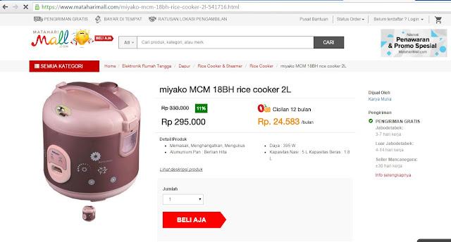 Cara Belanja di mataharimall.com dengan Potongan Voucher Rp 100.000
