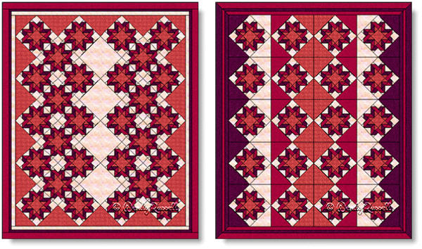 Quilts designed using the RIBBON STAR quilt block - images © Wendy Russell
