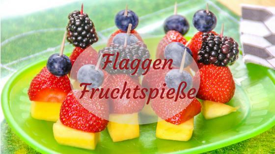 Deutschland Flaggen Frucht Spieße in schwarz rot Gold zur WM