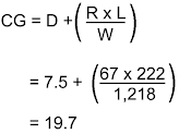 Aircraft Weight and Balance formula