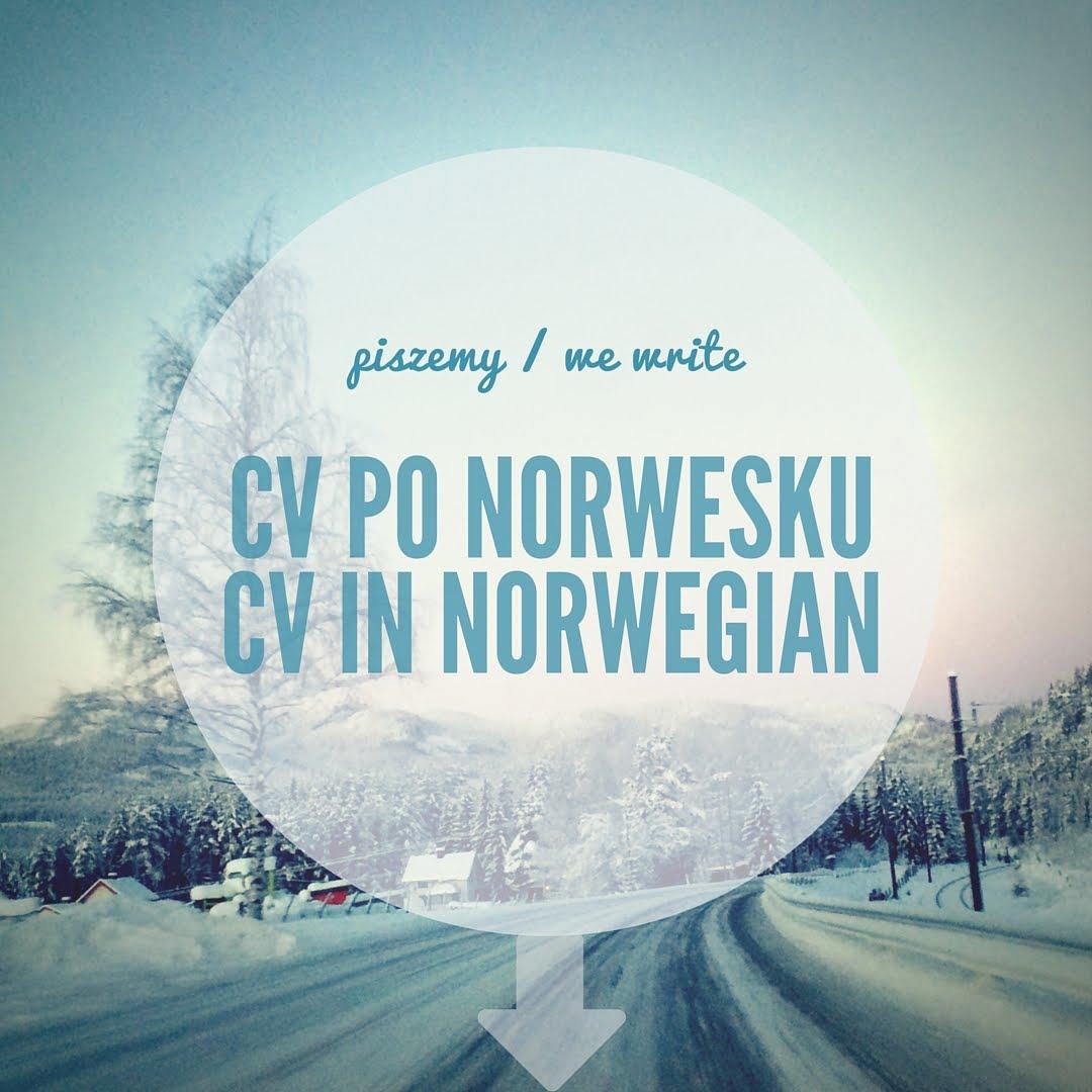 Write Cv Norway